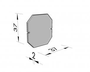 Afsluitplaat achthoekige nis 50 hoogte 45