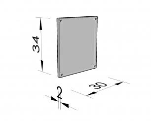 Afsluitplaat vierhoekige nis 47