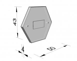 Deksel zeshoekige nis 44 2-puntsluiting