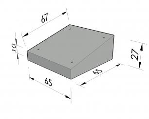 Lessenaardeksel 65x65x27/10