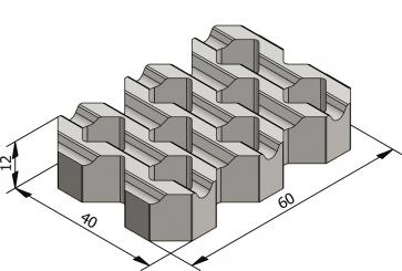 Klassieke grasbetontegels 60x40 met groeven Zolder