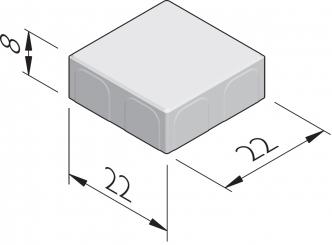 Poreuze betonstraatstenen 22x22