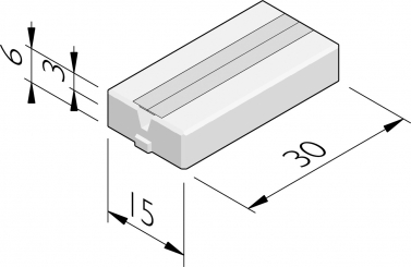 EV-kabelgoottegels 30x15