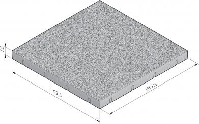 Vloerplaat met richtingloze antislipstructuur (RAS)